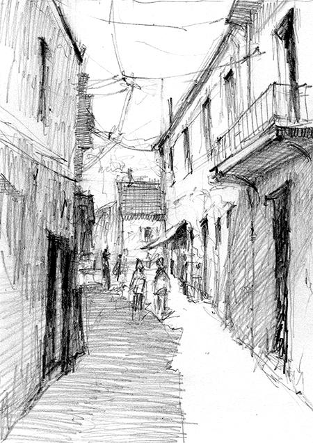 pencil-dwg-narrow-alley