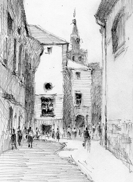 pencil-dwg-old-city-2