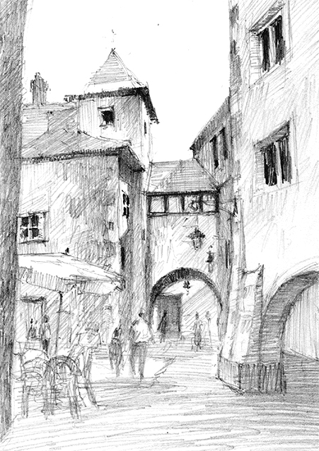 pencil-dwg-old-city