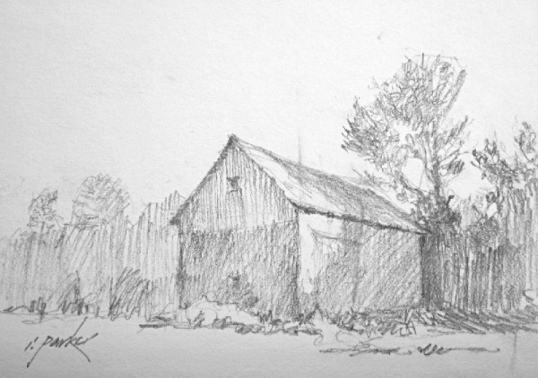 Barn Sketch (Pencil) No 1 5x7