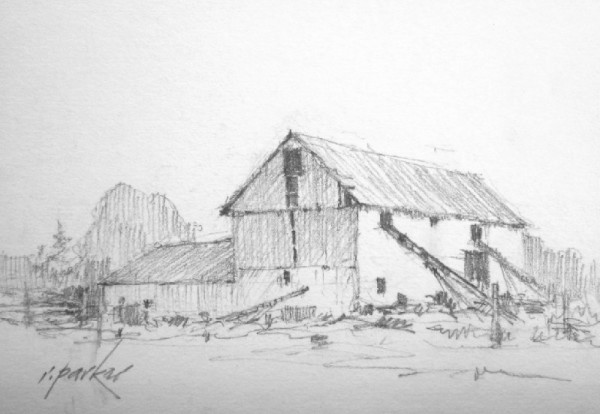 Barn Sketch (Pencil) No 3 5x7
