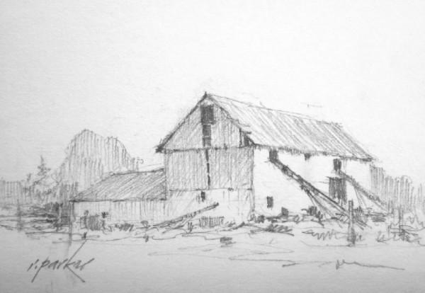 Barn Sketch (Pencil) No 3 5x7